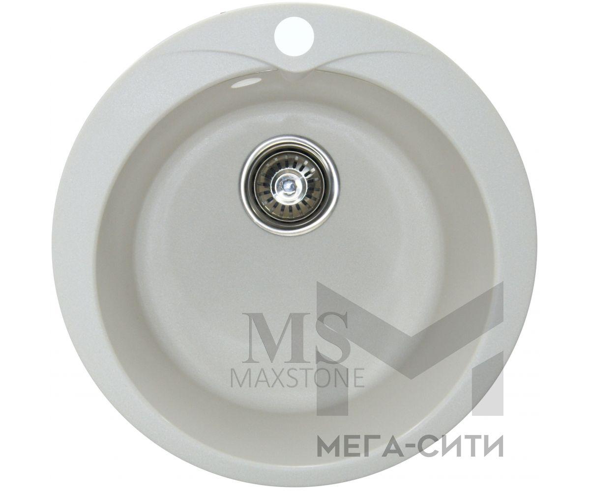 Мойка для кухни из искусственного камня МС-1 Белый металлик