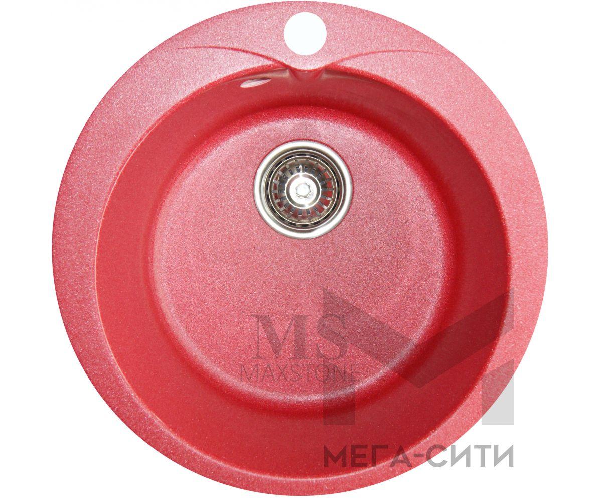 Мойка для кухни из искусственного камня МС-1 Красный металлик