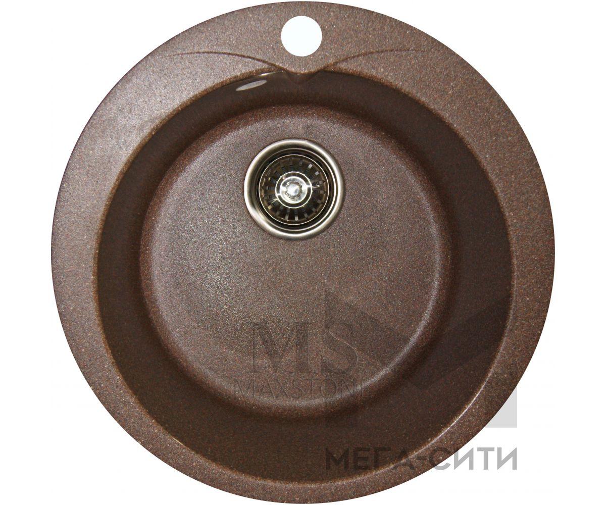 Мойка для кухни из искусственного камня МС-1 Терракот металлик