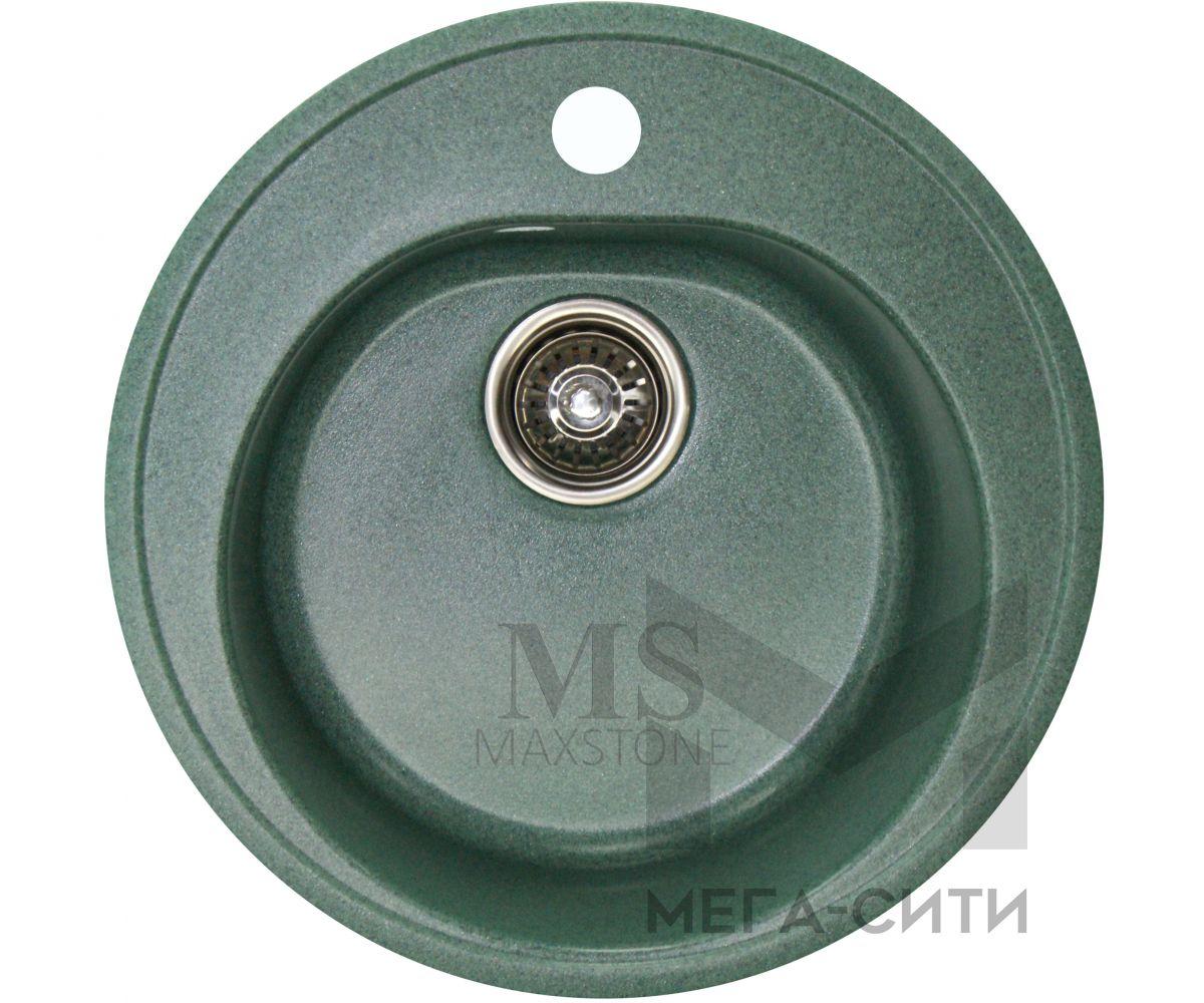 Мойка для кухни из искусственного камня МС-2 Зеленый металлик