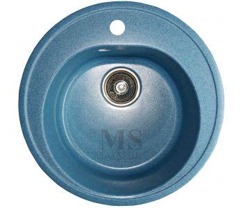 Мойка для кухни из искусственного камня МС-2 Синий металлик