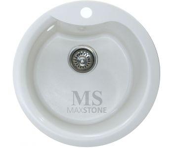 Мойка для кухни из искусственного камня МС-4 Белый металлик