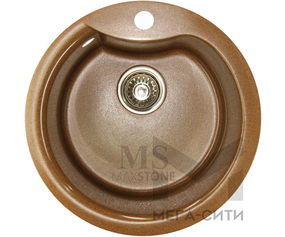 Мойка для кухни из искусственного камня МС-3 Шоколадный металлик
