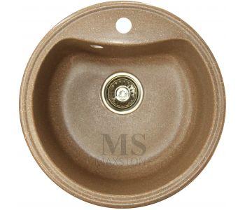 Мойка для кухни из искусственного камня МС-4 Терракот металлик