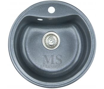 Мойка для кухни из искусственного камня МС-4 Черный металлик