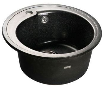 Мойка для кухни из искусственного камня МС-3 Мойка черная из Керамогранита