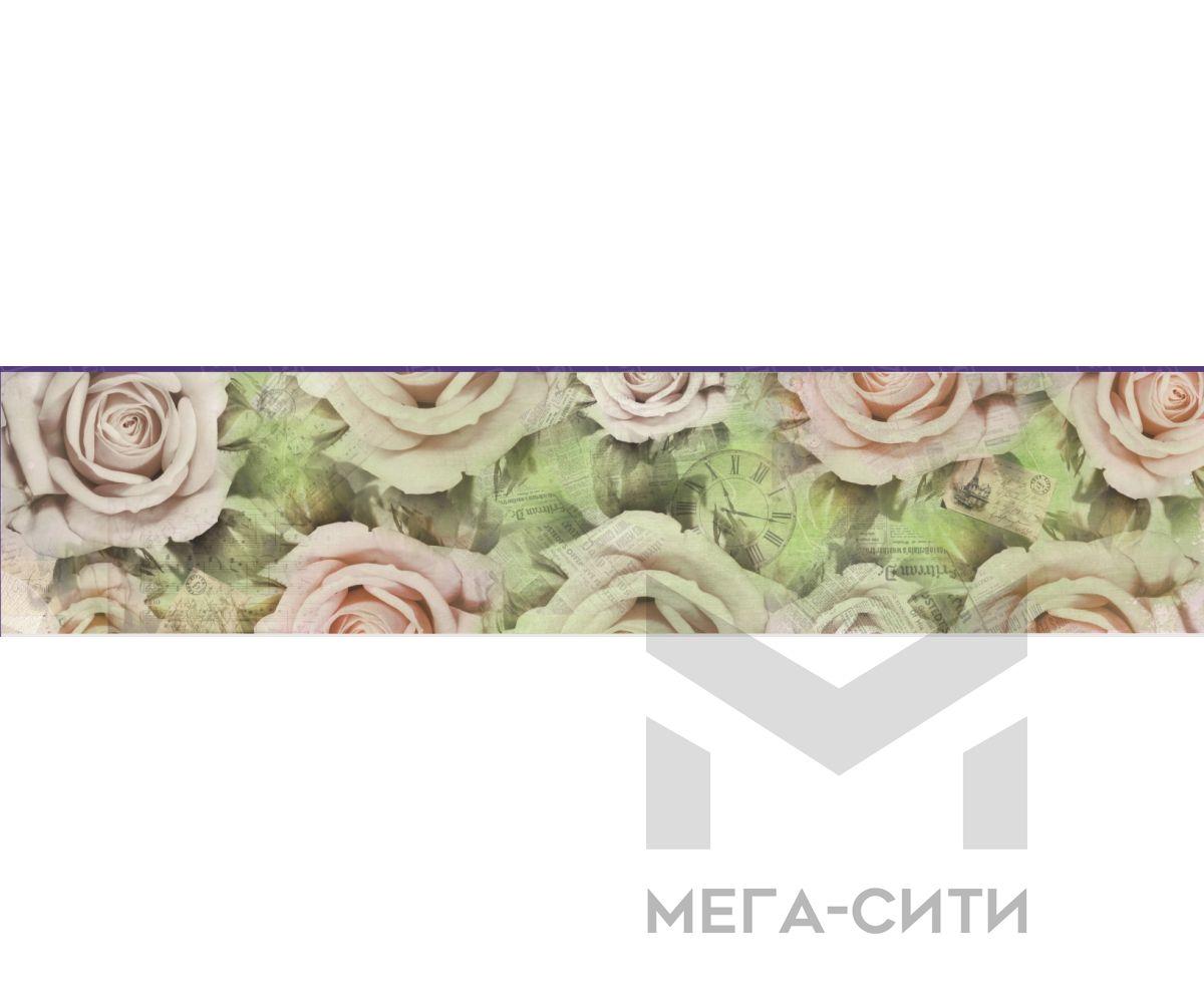Стеновая панель (высокоглянцевая) Розы