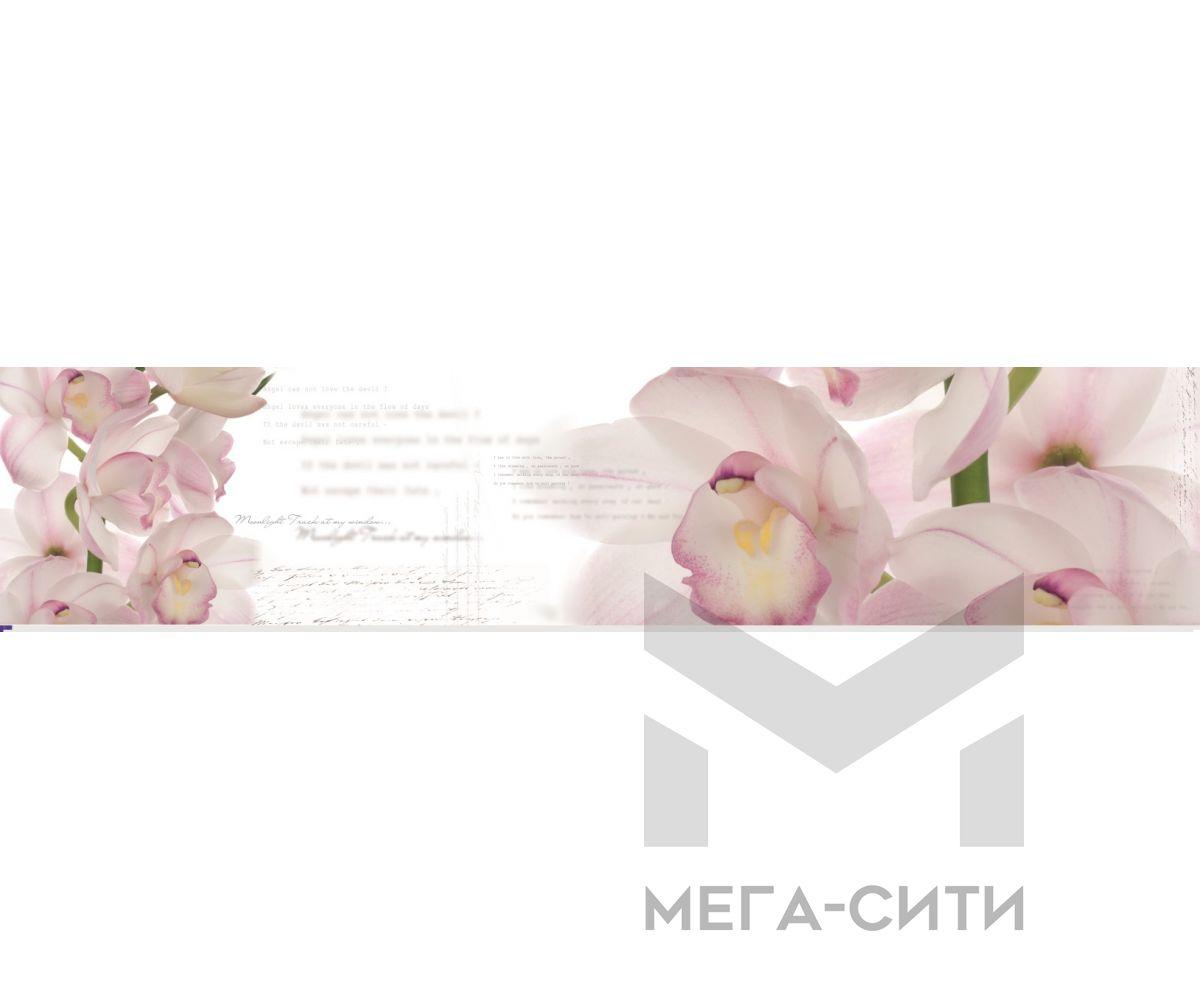 Стеновая панель (высокоглянцевая) Цветы