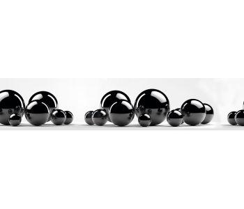 Стеновая панель (высокоглянцевая) Msk Черные шары