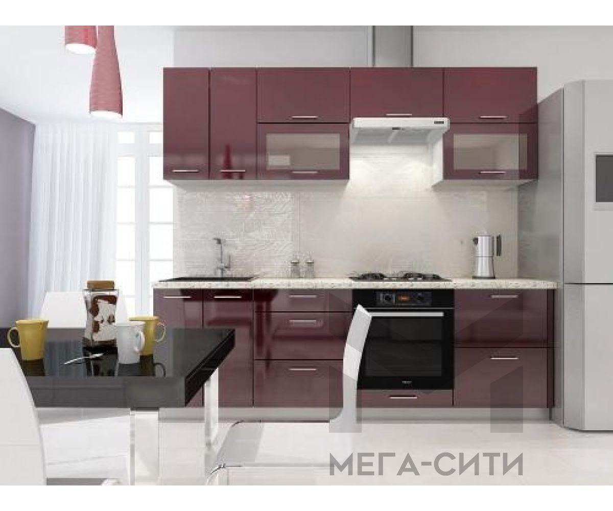 Кухонный гарнитур МДФ Грация 2,4 м МДФ ПВХ глянец