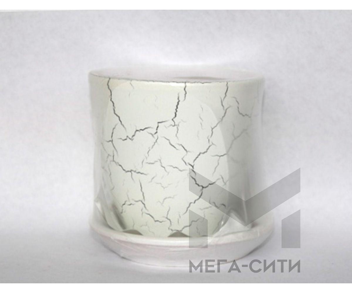 Горшки керамические, комплект, производство Польша, White-C