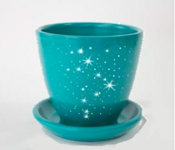 Горшки керамические, комплект, производство Польша, Звёздное небо