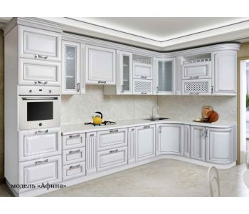 Кухонный гарнитур Афина из массива березы 1,55-3,7м