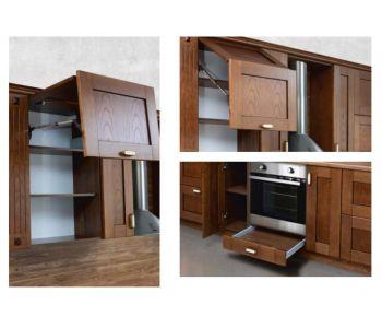 Кухонный гарнитур Марта из массива березы 2,69м