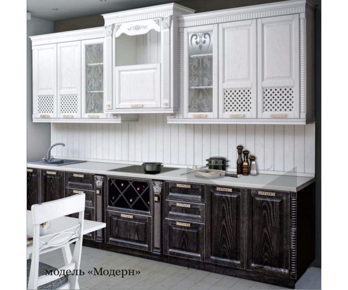 Кухонный гарнитур Модерн из массива березы 3,5м