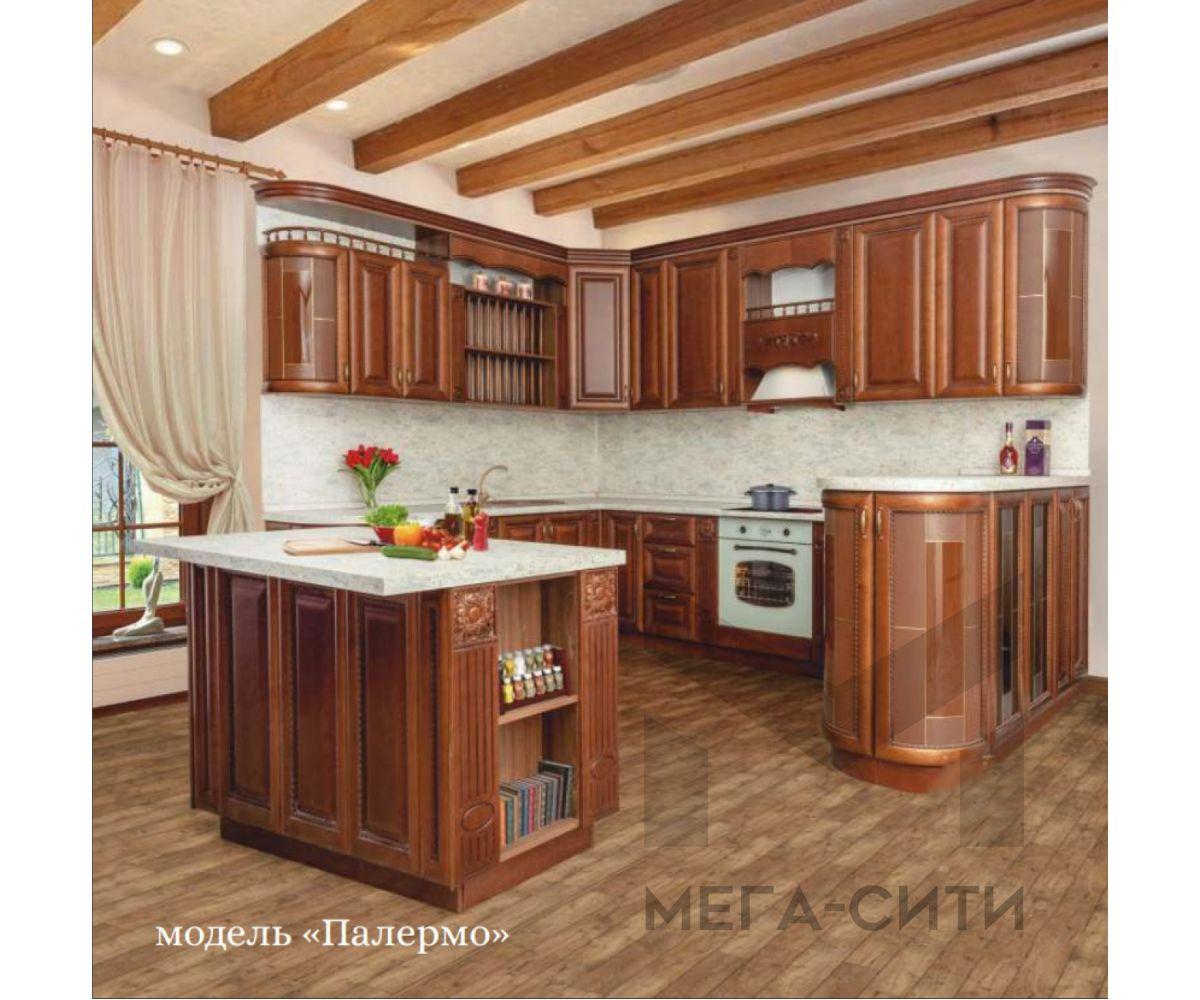 Кухонный гарнитур Палермо из массива березы 2,4*3,2м