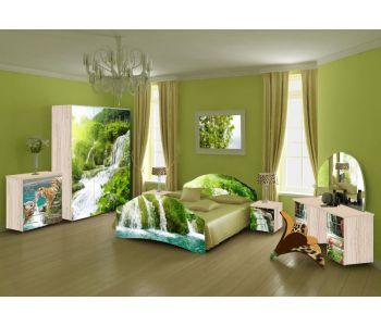 Спальный гарнитур с фотопечатью Лика 7