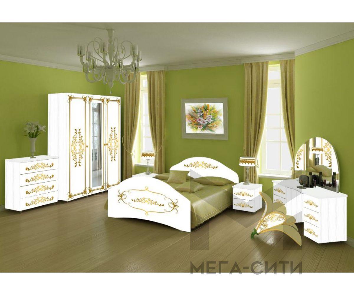 Спальный гарнитур с фотопечатью Лика 6