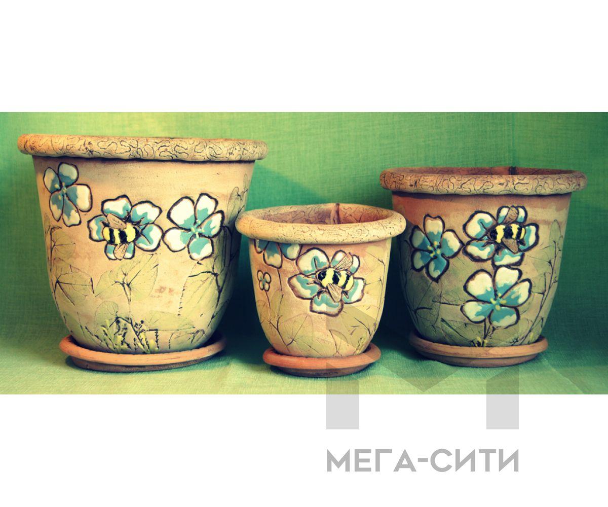 Комплект кашпо для цветов Шмель