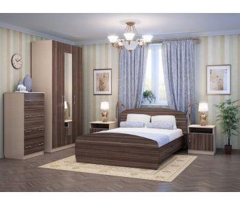 Спальный гарнитур Элеонора-2 К-Венге светлый, Ф-Олива шоколад
