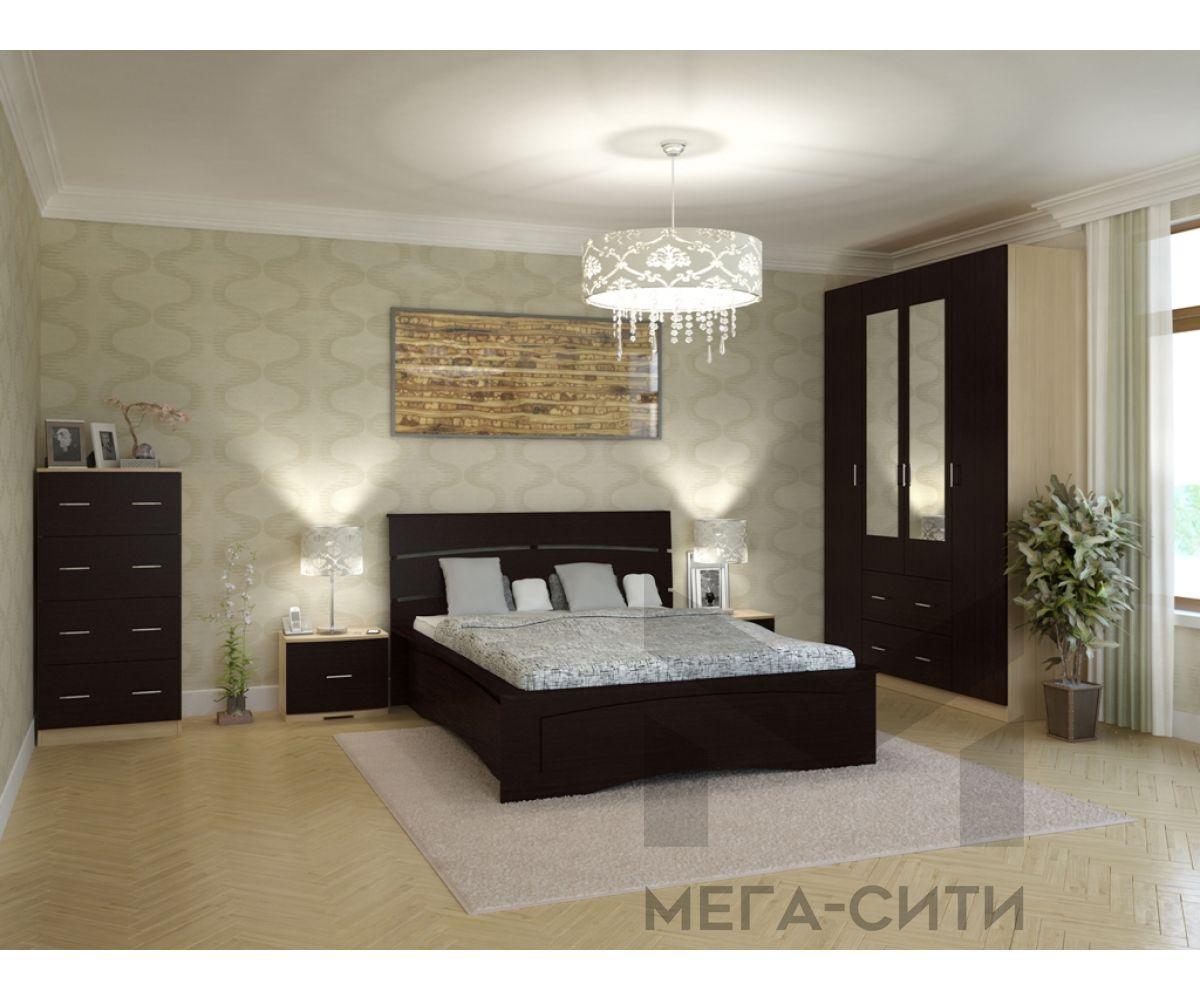 Спальный гарнитур Элеонора-6 К-Венге светлый, Ф-Венге