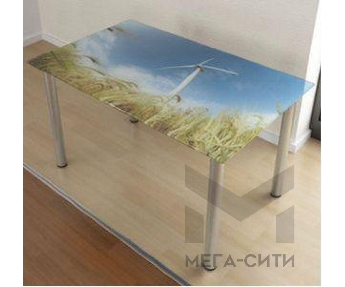 Стол обеденный стеклянный Фотопечать