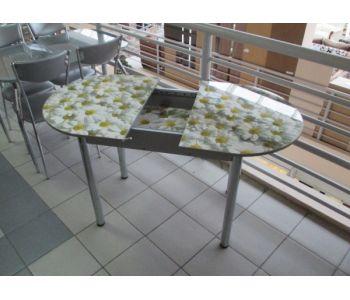Стол обеденный с фотопечатью Ромашки