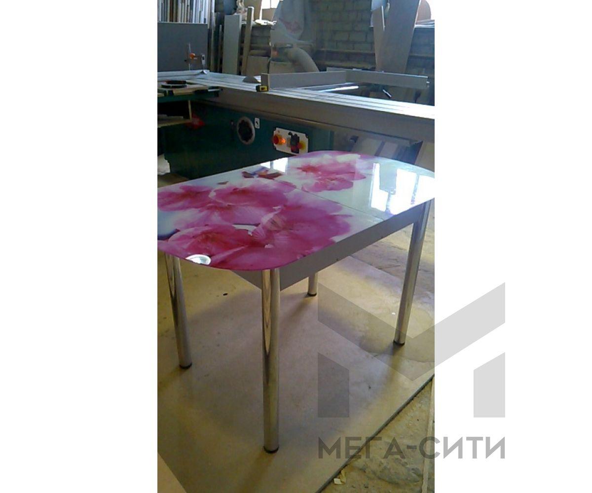 Стол обеденный  с фотопечатью орхидея