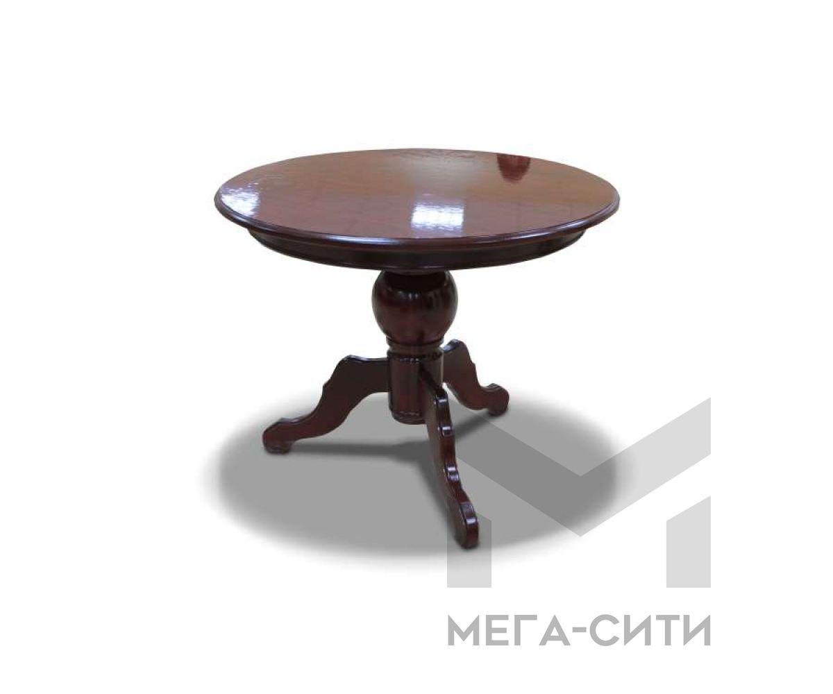 Стол обеденный круглый массив