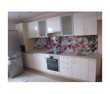 Стеклянные стеновые панели для кухни с фотопечатью.