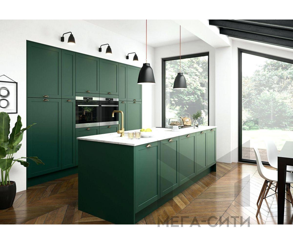 Кухня из эмали,зеленая
